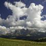 Sassolungo and Sassopiatto Mountains in the Dolomites