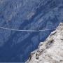 Via Ferrata Ivano Dibona Suspension Bridge Dolomite Mountains