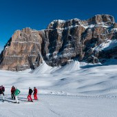 Ski down the Lagazuoi, Dolomites