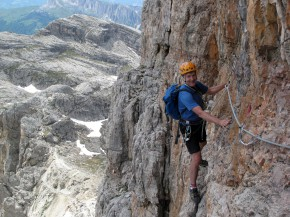 Alvera Averau climb in the Dolomites