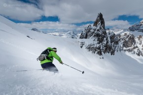 Freeride in Misurina area
