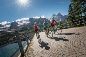 Road Biking in the area of the Marmolada Massif