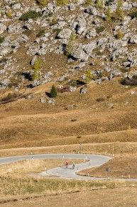 Road Biking in the area of Passo Giau