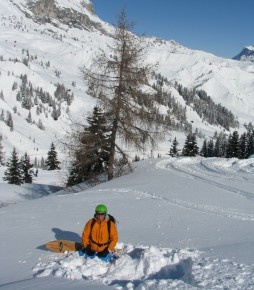Off-piste adventure in the Dolomites