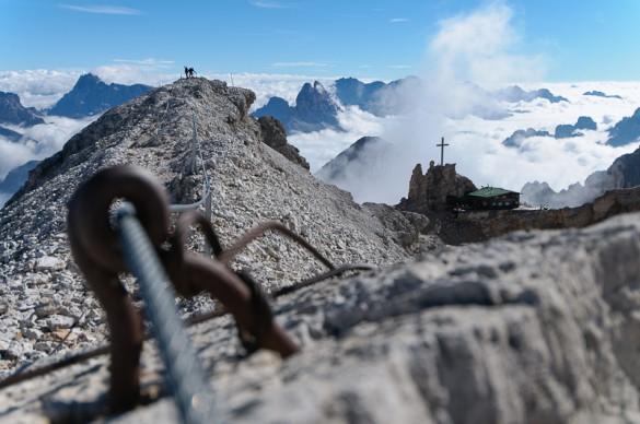 Ferrata Ra Gusela Dolomites Nuvolau, 2574m