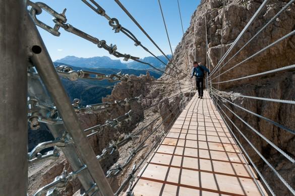 Ferrata delle Mèsules Dolomites, Sella, Piz Selva, 2941m