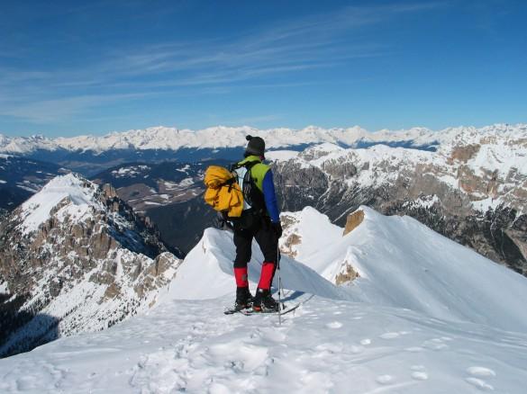 Dolomites Hut-to-Hut Snowshoeing Circuit, Feb 2016