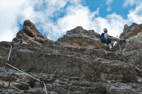 Via Ferrata Experience in the Dolomites