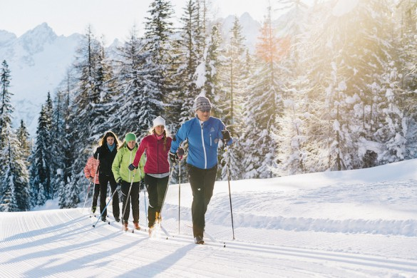 Cross-Country Ski Tour in the Dolomites