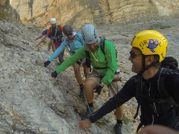 Via Ferrata Piz da Lec Dolomites, Sella, Piz da Lec, 2911m