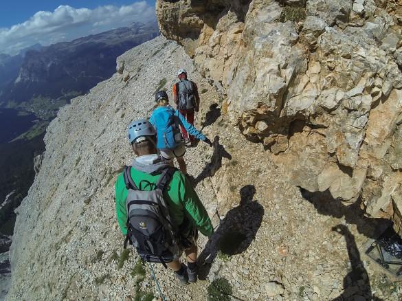 Via Ferrata Cesare Piazzetta Dolomites Sella, Piz Boé, 3152m