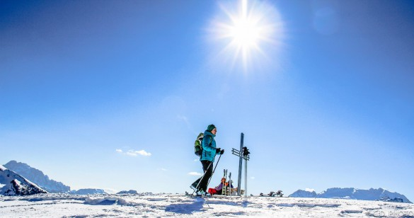 The Grand Ski Touring Traverse in the Dolomites
