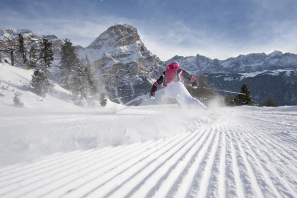 Typical Snow Conditions in the Dolomites