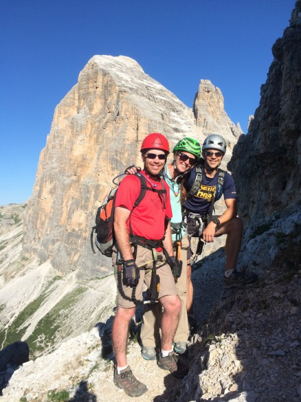 Via Ferrata Group Departure - July 2015
