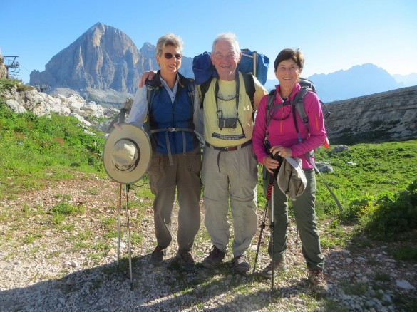 Hiking Alta Via n.1 of the Dolomites
