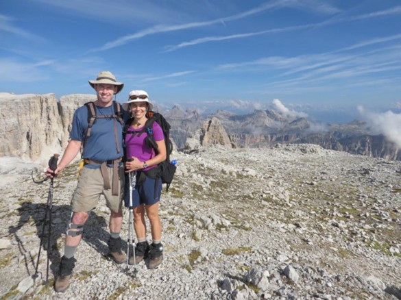 Hiking the AV2 of the Dolomites