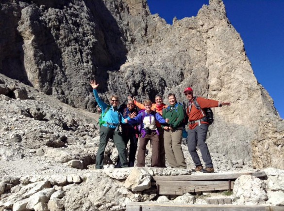 Hiking Traverse in the Dolomites, Sep 2016