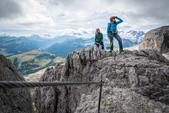 Via Ferrata and Hiking Adventure at the Sella Massif