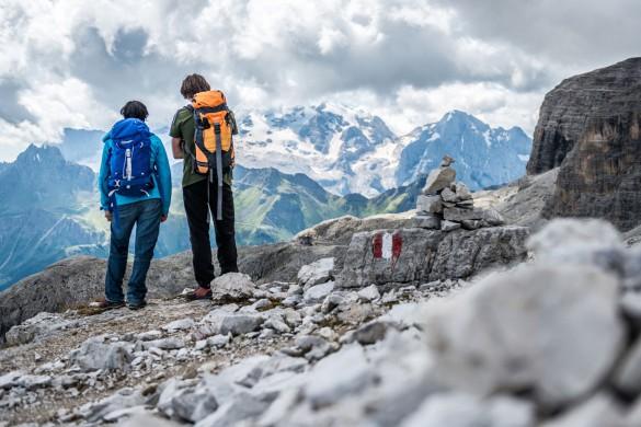 Hiking Alta Via N.2 of the Dolomites