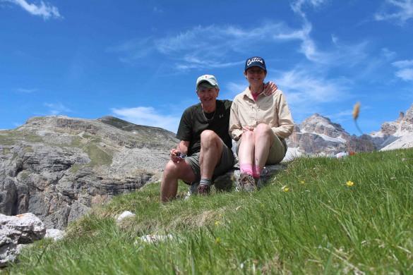 Hiking from Cortina to Alta Badia, June 2017