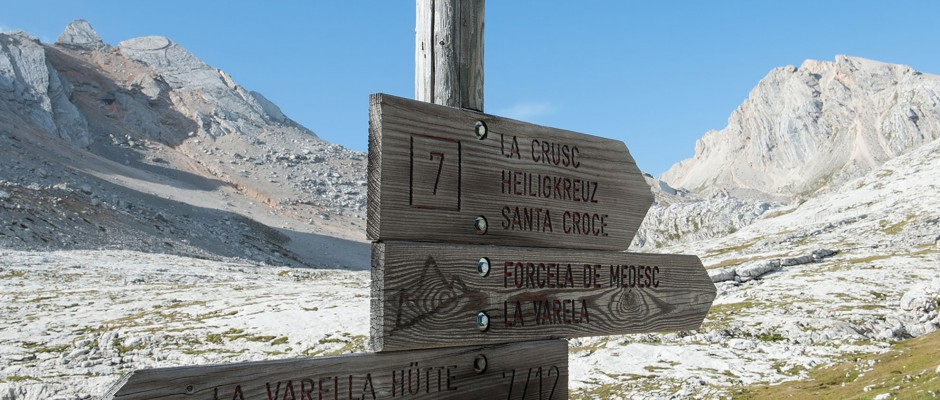 Signs in the Dolomites